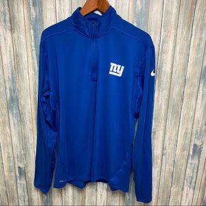 Nike Giants NFL 1/2 Zip Pullover sz XL # V479